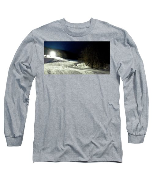 Long Sleeve T-Shirt featuring the photograph Night Skiing At Mccauley Mountain by David Patterson