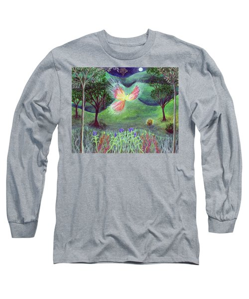Night With Fire Bird And Sacred Bush Long Sleeve T-Shirt