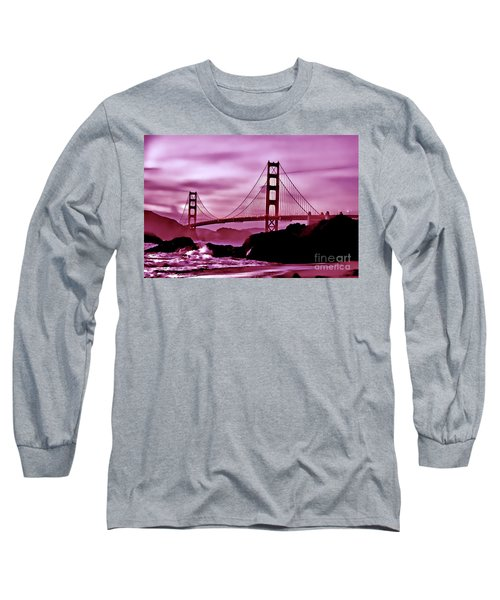 Nightfall At The Golden Gate Long Sleeve T-Shirt