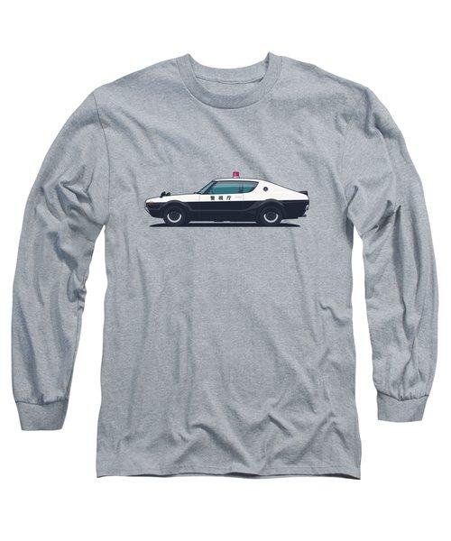 Nissan Skyline Gt-r C110 Japan Police Car Long Sleeve T-Shirt