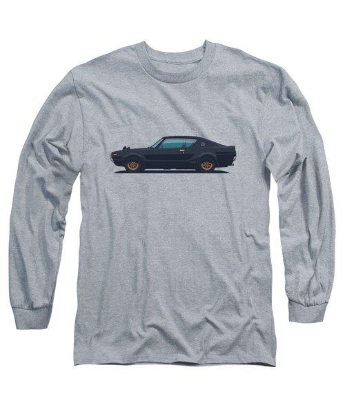 Nissan Skyline Gt-r C110 Side - Plain Black Long Sleeve T-Shirt