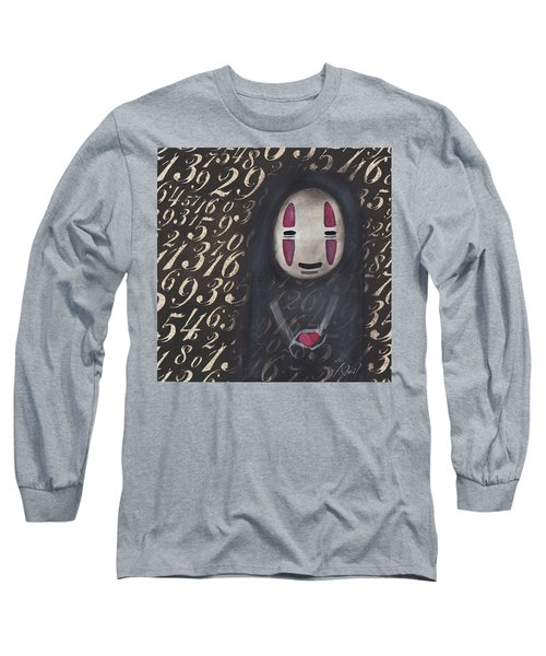 No Face With A Heart Long Sleeve T-Shirt by Abril Andrade Griffith