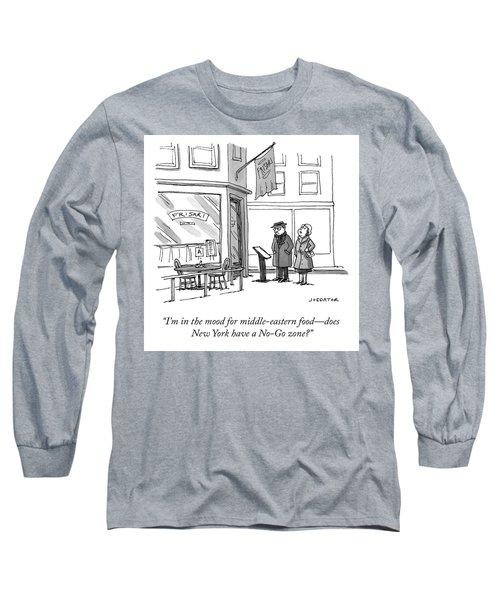 No Go Zone Long Sleeve T-Shirt