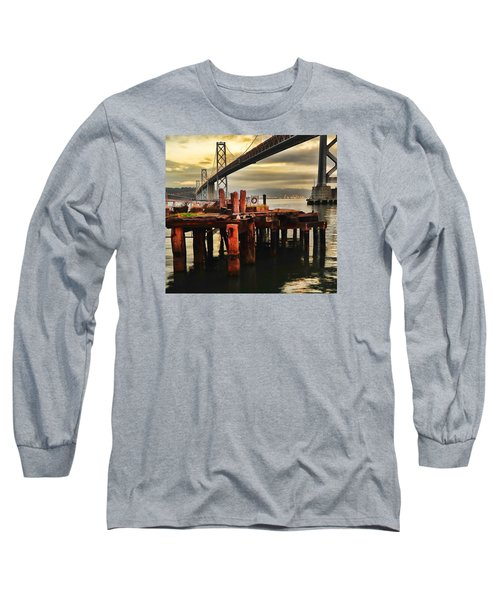 Long Sleeve T-Shirt featuring the photograph No Name Dock by Steve Siri