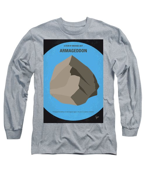 No695 My Armageddon Minimal Movie Poster Long Sleeve T-Shirt by Chungkong Art