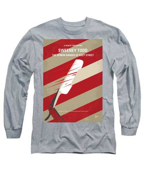No849 My Sweeney Todd Minimal Movie Poster Long Sleeve T-Shirt