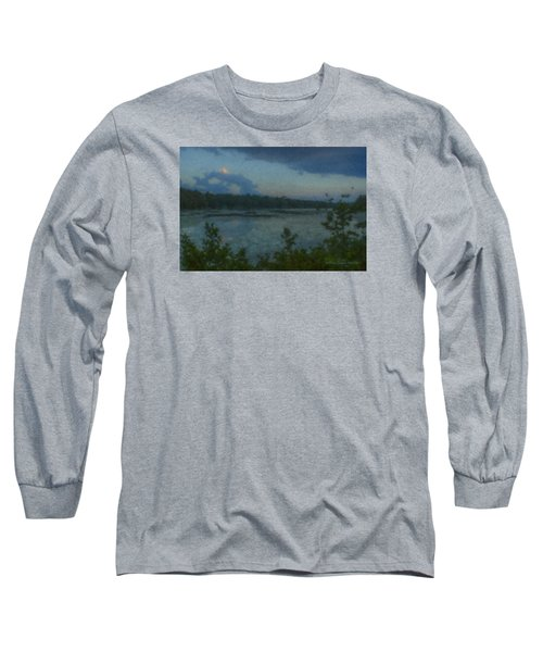 Nocturne At Ames Long Pond Long Sleeve T-Shirt