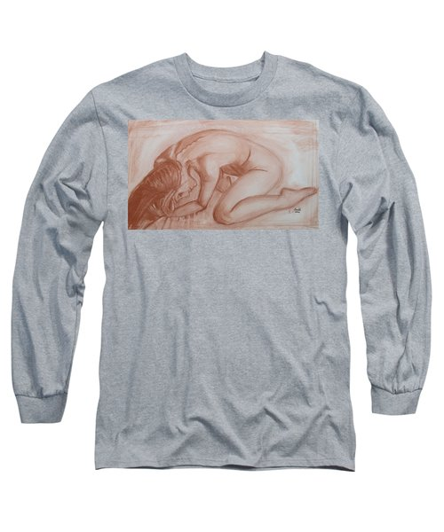 Long Sleeve T-Shirt featuring the painting Nocturne by Jarko Aka Lui Grande