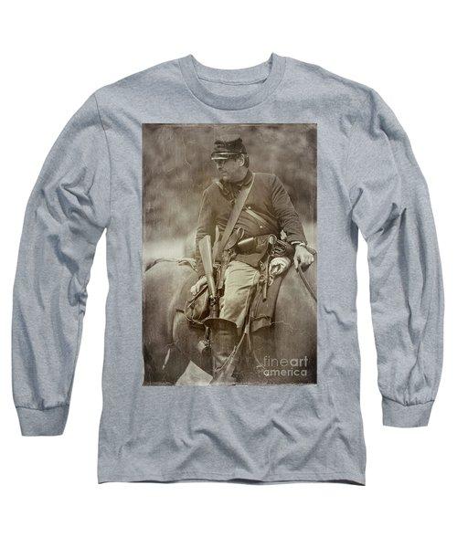 Nom-de-guerre Long Sleeve T-Shirt by Randall Cogle