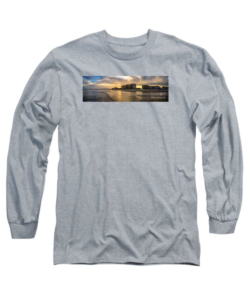 North Myrtle Beach Sunset Long Sleeve T-Shirt by David Smith