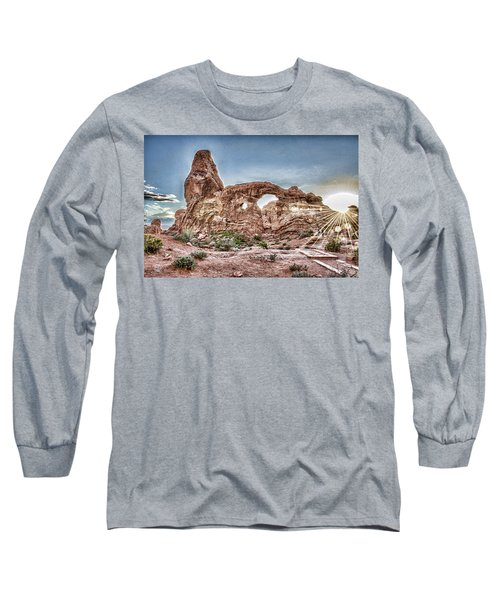Long Sleeve T-Shirt featuring the photograph North Window Sundown Star by Daniel Hebard