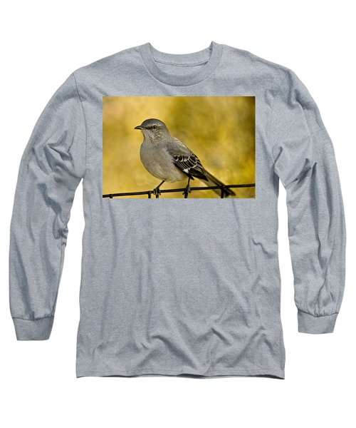 Northern Mockingbird Long Sleeve T-Shirt by Chris Lord