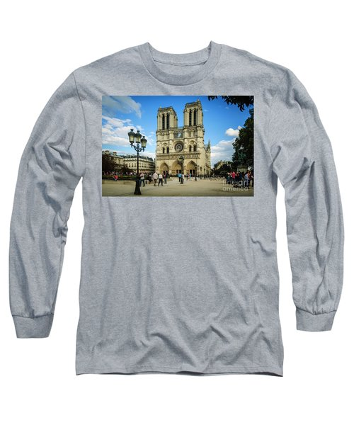 Notre Dame Cathedral Long Sleeve T-Shirt