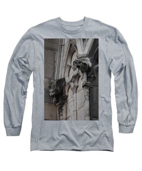 Long Sleeve T-Shirt featuring the photograph Notre Dame Grotesques by Christopher Kirby