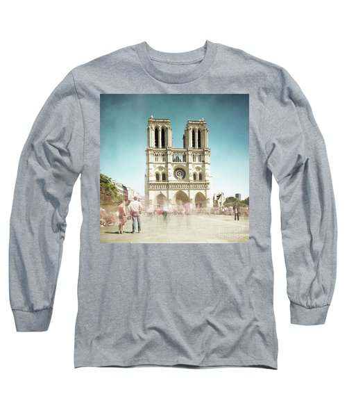 Long Sleeve T-Shirt featuring the photograph Notre Dame by Hannes Cmarits