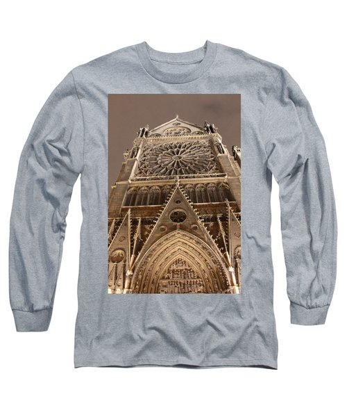 Long Sleeve T-Shirt featuring the photograph Notre Dame North by Christopher Kirby