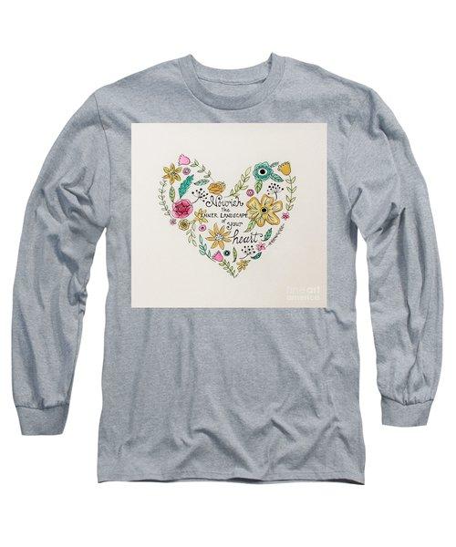 Nourish Long Sleeve T-Shirt by Elizabeth Robinette Tyndall