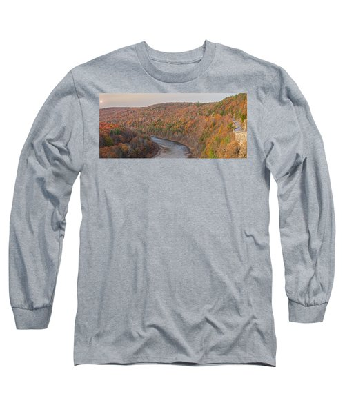 November Golden Hour At Hawk's Nest Long Sleeve T-Shirt