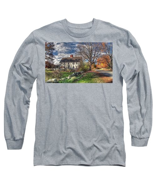 Long Sleeve T-Shirt featuring the photograph Noyes House In Autumn by Wayne Marshall Chase
