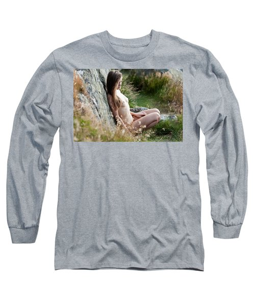 Nude Girl In The Nature Long Sleeve T-Shirt