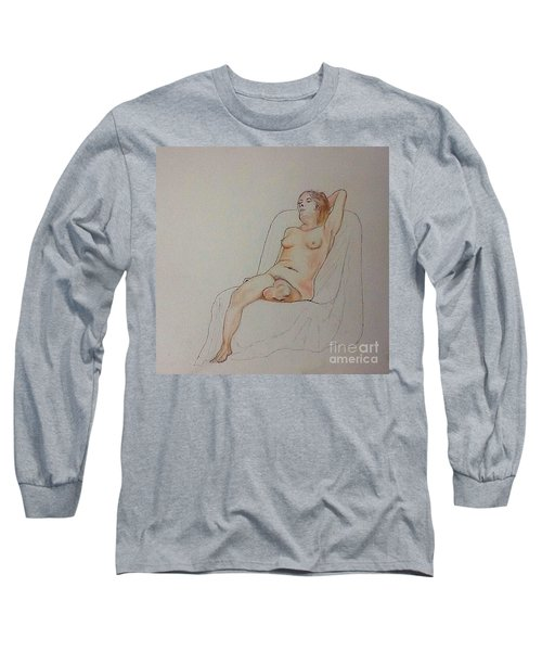 Nude Life Drawing Long Sleeve T-Shirt