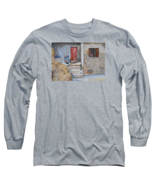 Number 3 Long Sleeve T-Shirt by Christine Lathrop