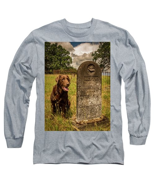 Long Sleeve T-Shirt featuring the photograph Nute In The Cemetery by Jean Noren