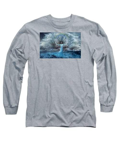 Nymph Of  The Water Long Sleeve T-Shirt by Lilia D