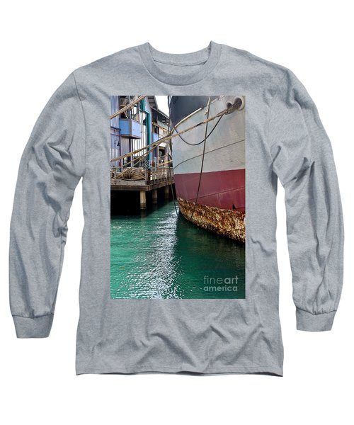 Long Sleeve T-Shirt featuring the photograph Oahu Harbor by Gina Savage