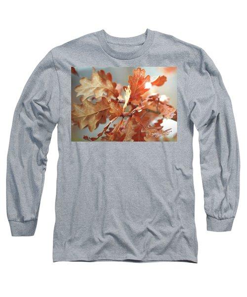 Oak Leaves In Autumn Long Sleeve T-Shirt by Wilhelm Hufnagl