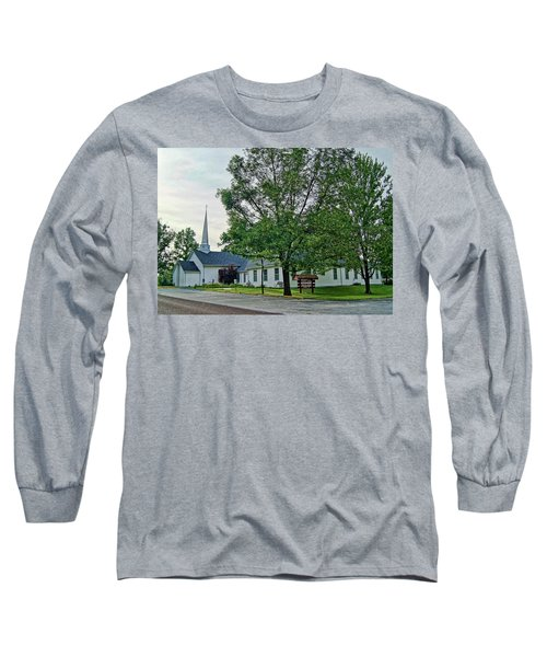 Long Sleeve T-Shirt featuring the photograph Oakland Christian Church by Cricket Hackmann