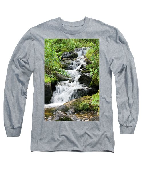 Long Sleeve T-Shirt featuring the photograph Oasis Cascade by David Chandler