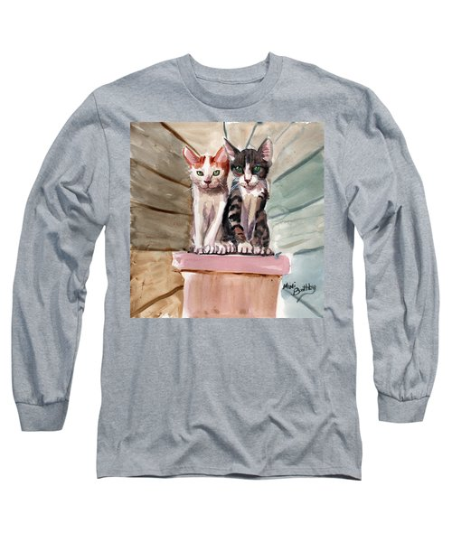 Obi And Lisa Two Kittens Long Sleeve T-Shirt
