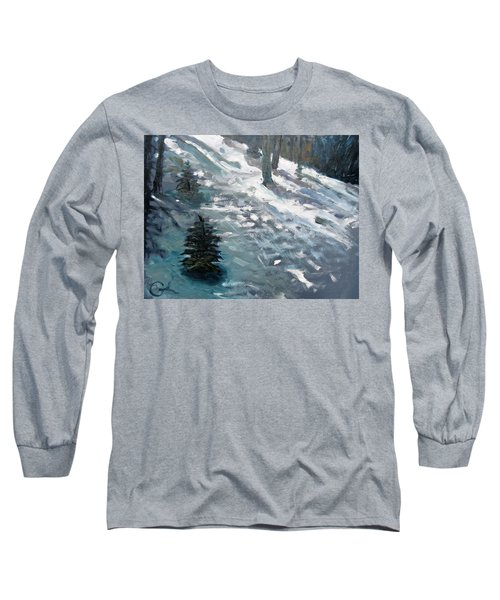 Long Sleeve T-Shirt featuring the painting Observing Snow by Gary Coleman