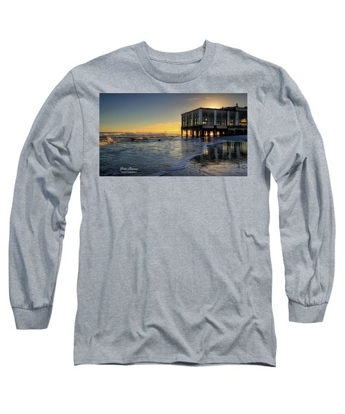 Oc Music Pier Sunset Long Sleeve T-Shirt