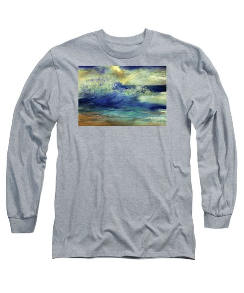 Long Sleeve T-Shirt featuring the painting Ocean by Allison Ashton