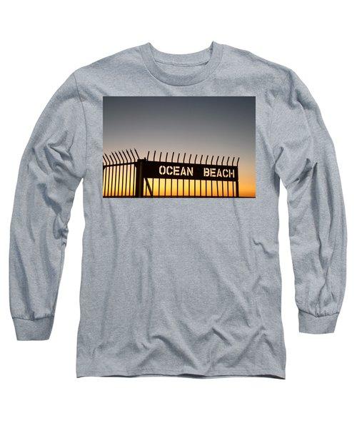 Ocean Beach Pier Gate Long Sleeve T-Shirt