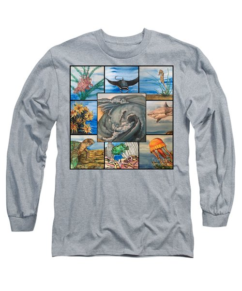 Ocean Collage #1 Long Sleeve T-Shirt