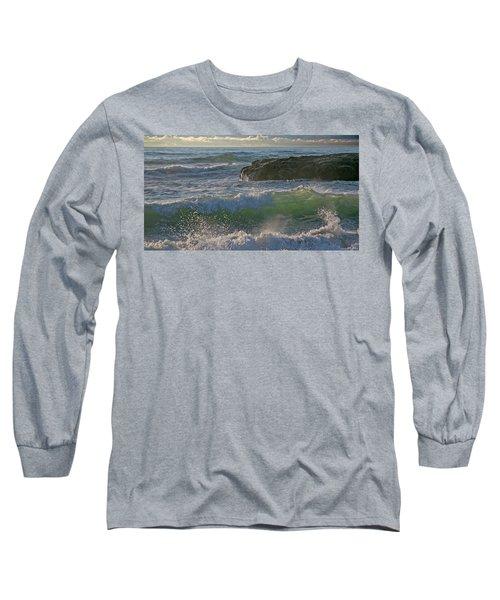 Long Sleeve T-Shirt featuring the photograph Crashing Waves by Elvira Butler