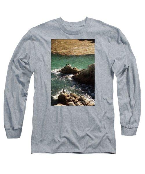 Ocean Rock Near Carmel Long Sleeve T-Shirt by Ted Pollard