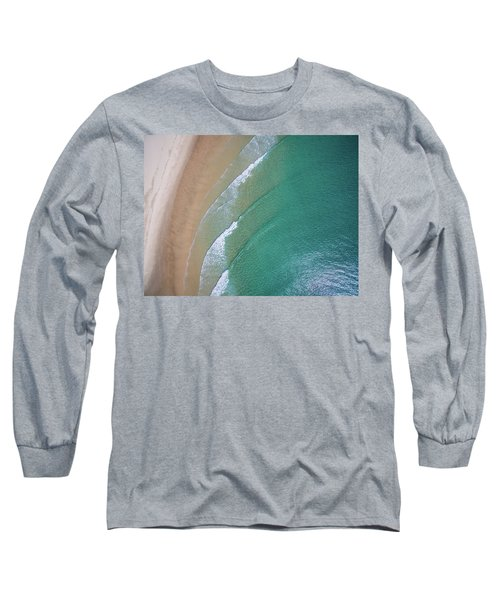 Ocean Waves Upon The Beach Long Sleeve T-Shirt