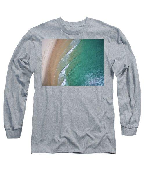Ocean Waves Upon The Beach Long Sleeve T-Shirt