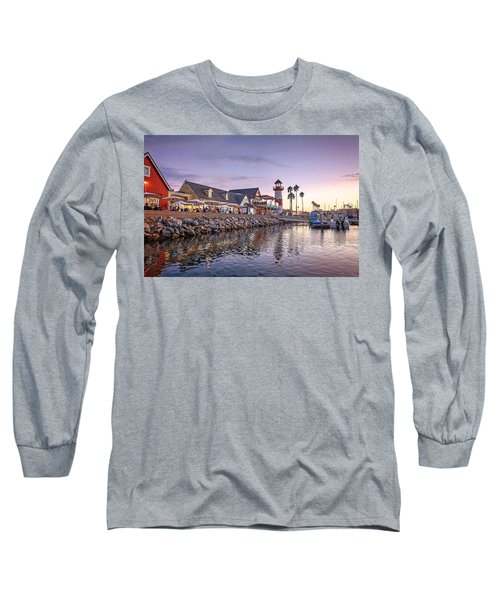 Oceanside Harbor Long Sleeve T-Shirt by Ann Patterson