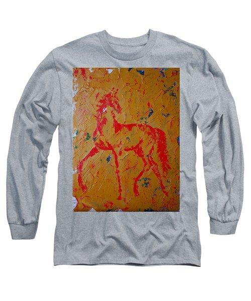 Ochre Horse Long Sleeve T-Shirt