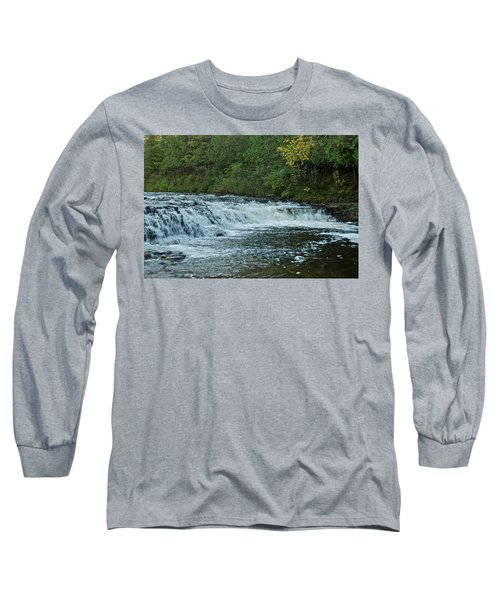 Ocqueoc Falls_9535 Long Sleeve T-Shirt by Michael Peychich