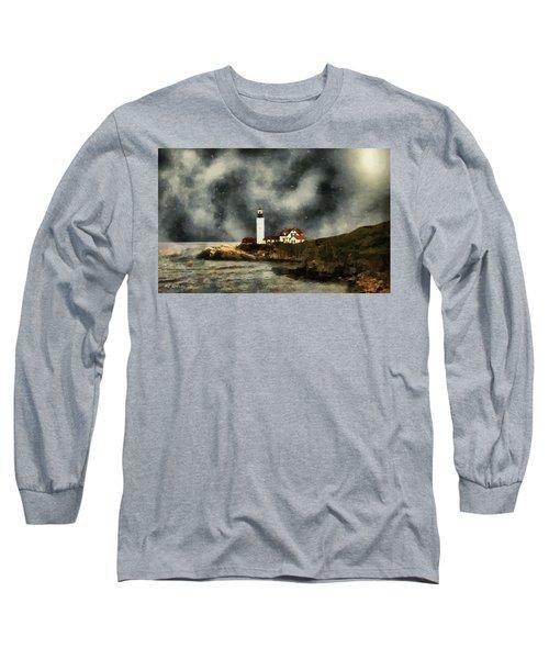 October Night, Portland Head Long Sleeve T-Shirt