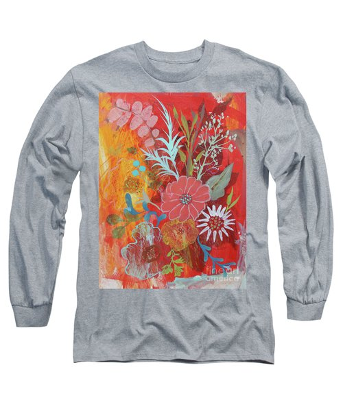 Long Sleeve T-Shirt featuring the painting Ode To Spring by Robin Maria Pedrero