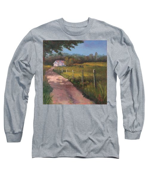Off The Path In Whiting Bay Long Sleeve T-Shirt by Trina Teele