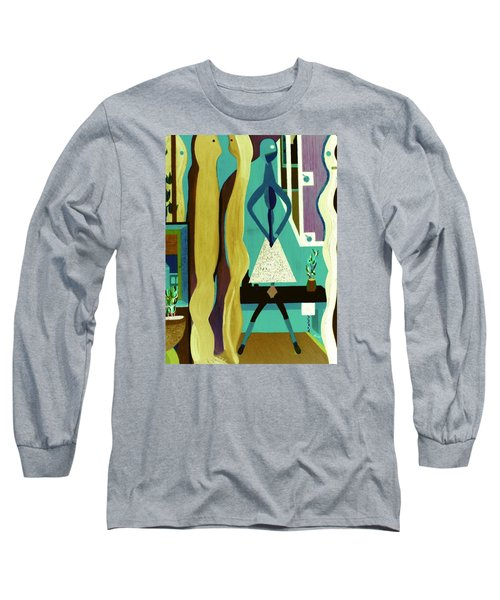 Office Party Long Sleeve T-Shirt by Bill OConnor