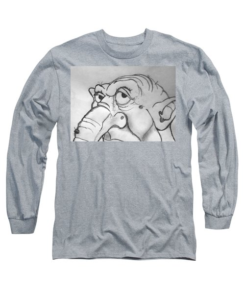 Ogre Sketch Long Sleeve T-Shirt by Yshua The Painter